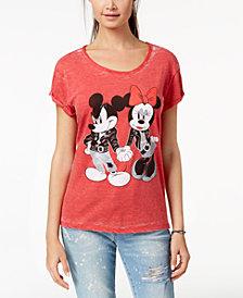 Freeze 24-7 Juniors' Minnie & Mickey Graphic-Print T-Shirt