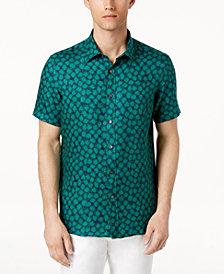 Michael Kors Men's Floral-Print Linen Shirt