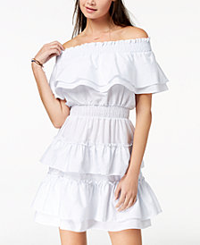 2150325dc The Edit By Seventeen Juniors' Off-The-Shoulder Fit & Flare Dress,