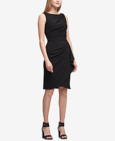 DKNY Draped Scuba Sheath Dress, Created for Macy's