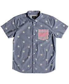 Quiksilver Star-Print Cotton Shirt, Big Boys