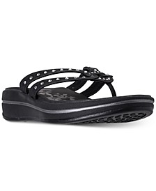 Women's Relaxed Fit: Upgrades - Be Jeweled Flip-Flop Thong Sandals from Finish Line