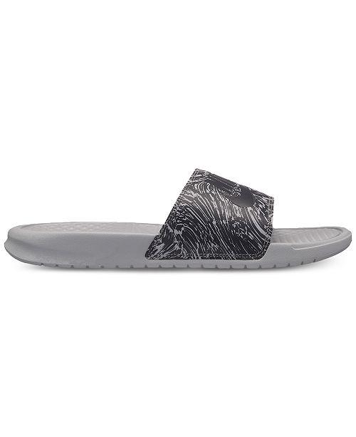 a330b99c921f Nike Men s Benassi JDI Print Slide Sandals from Finish Line ...