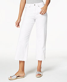 1.STATE Cropped Wide-Leg Jeans