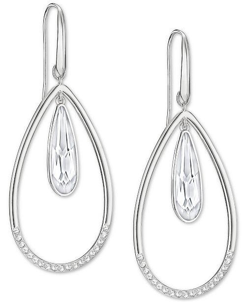 d5c8004c8 Swarovski Silver-Tone Crystal Orbital Drop Earrings & Reviews ...