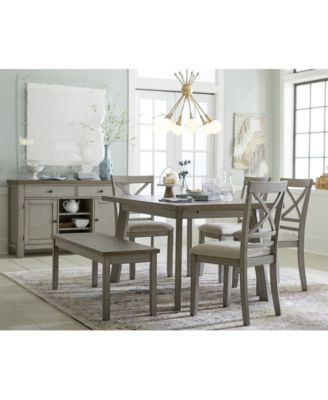 Exceptionnel Furniture Fairhaven Dining Furniture, 6 Pc. Set (Table, 4 Upholstered Side  Chairs U0026 Bench), Created For Macyu0027s   Furniture   Macyu0027s