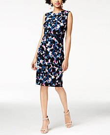 RACHEL Rachel Roy Draped-Back Dress, Created for Macy's