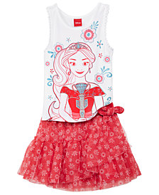 Disney's® 2-Pc. Princess Elena of Avalor Tank Top & Skirt Set, Little Girls