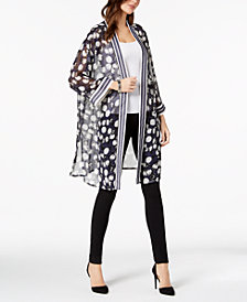 Alfani Petite Long Printed Kimono Jacket, Created for Macy's
