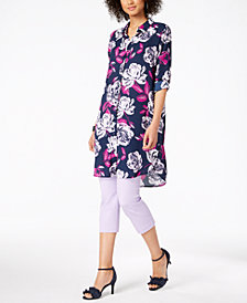 Alfani Convertible Tunic & Cropped Pants, Created for Macy's