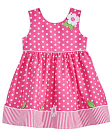 Blueberi Boulevard Baby Girls Dot-Print Cotton Sundress