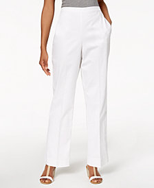 Alfred Dunner Petite Barcelona Pull-On Pants