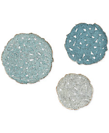 Madison Park Rossi Blue Iron Painted Wall Decor Set of 3