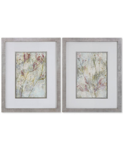 Uttermost Flower Dreams 2-Pc. Pastel Print Wall Art Set