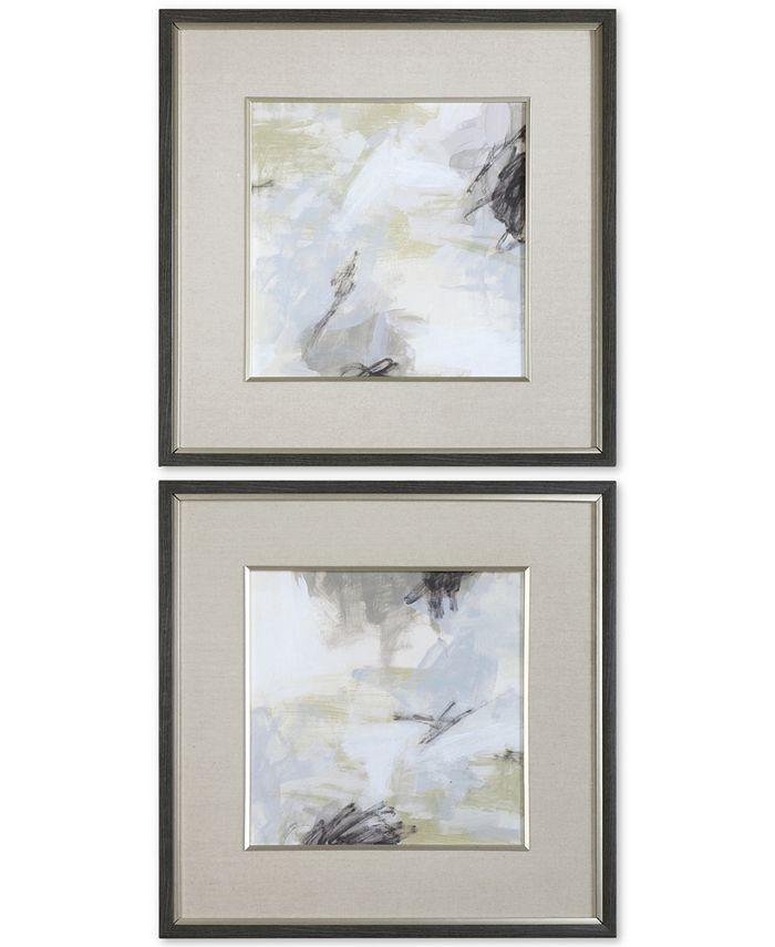 Uttermost - Abstract Vistas 2-Pc. Framed Printed Wall Art Set