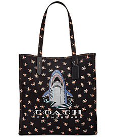 COACH Sharky Logo Medium Tote