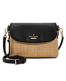 kate spade new york Small Straw Harlyn Crossbody