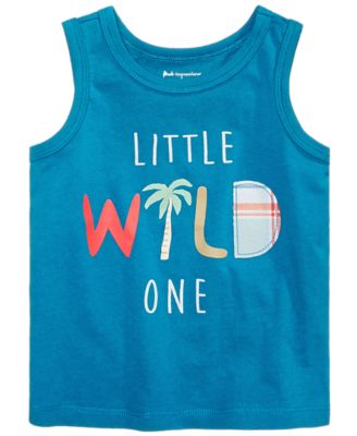 Baby Boys Wild-Print Cotton Tank Top, Created for Macy's