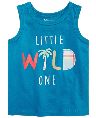 First Impressions Baby Boys Wild-Print Cotton Tank Top, Created for Macy's