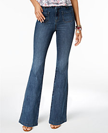 Style & Co Patch-Pocket Flared Jeans, Created for Macy's