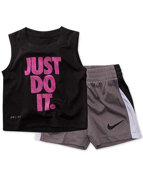 5297acf3e Nike Baby Boys 2-Pc. Graphic-Print T-Shirt & Shorts Set - Sets ...