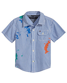 Tommy Hilfiger Baby Boys Splatter & Stripes Cotton Shirt