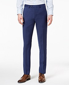 Men's Extra-Slim Fit Infinite Stretch Blue Twill Suit Pants