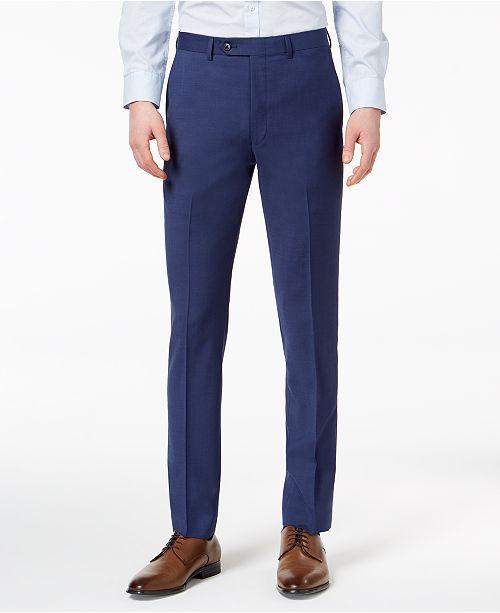 23c4d24c3 ... Pants; Calvin Klein Men's Extra-Slim Fit Infinite Stretch Blue Twill  Suit ...