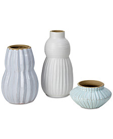 Madison Park Carson Handmade Terracotta Vase Set of 3
