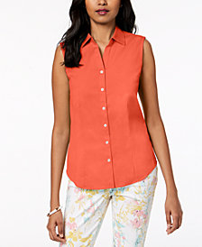 Charter Club Petite Sleeveless Shirt, Created for Macy's