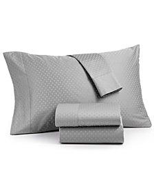 Agusta Cotton 600 Thread Count 4-Pc. Dobby King Sheet Set