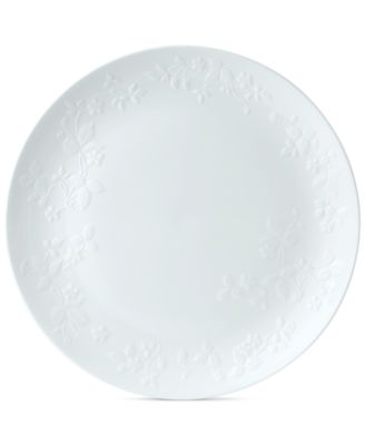 Wild Strawberry White Service Plate