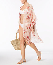 I.N.C. Ruffled Floral Kimono & Cover-Up , Created for Macy's