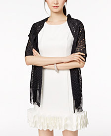 I.N.C. Knit Fringe Evening Wrap, Created for Macy's