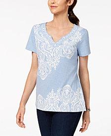 Karen Scott Paisley-Print Top, Created for Macy's