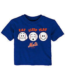 Outerstuff New York Mets Eat, Sleep, Play T-Shirt, Infant Boys (12-24 Months)