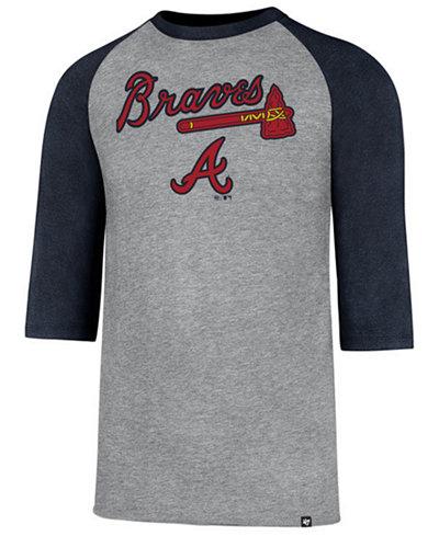 '47 Brand Men's Atlanta Braves Pregame Raglan T-shirt