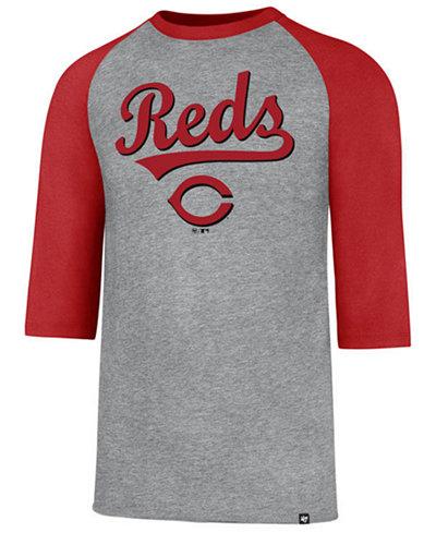 '47 Brand Men's Cincinnati Reds Pregame Raglan T-shirt