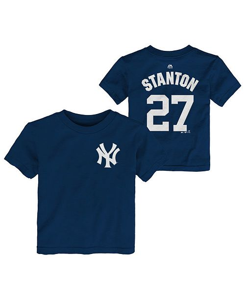 Majestic Giancarlo Stanton New York Yankees Official Player T-Shirt, Infant Boys (12-24 Months)