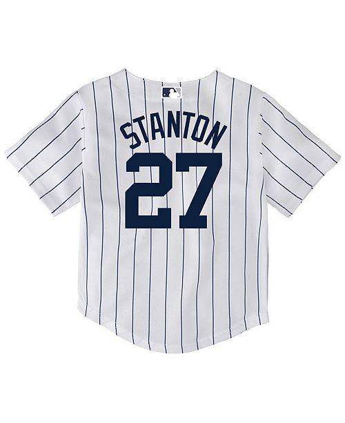 15bdd3a91 ... Majestic Giancarlo Stanton New York Yankees Player Replica Cool Base  Jersey