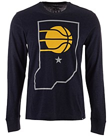 Men's Indiana Pacers Secondary Logo Long Sleeve T-Shirt