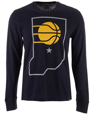 '47 Brand Men's Indiana Pacers Secondary Logo Long Sleeve T-Shirt