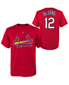 Majestic Paul DeJong St. Louis Cardinals Official Player T-Shirt, Big Boys (8-20)