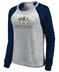 Majestic Women's Nashville Predators Cozy Crew Long Sleeve T-Shirt