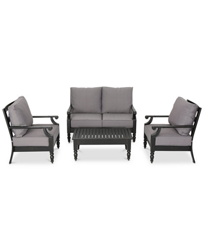 Westchester 4-Pc. Outdoor Chat Set, Quick Ship