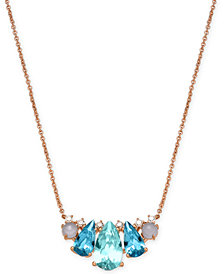 "Danori Rose Gold-Tone Crystal & Bead Pendant Necklace, 15"" + 4"" extender, Created for Macy's"
