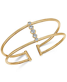 Danori Crystal Pavé Open-Style Flex Cuff Bracelet, Created for Macy's