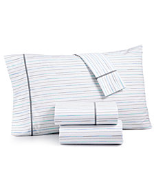 Whim by Martha Stewart  Collection Novelty Print Twin XL 3-pc Sheet Set, 200 Thread Count 100% Cotton Percale, Created for Macy's