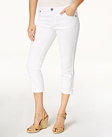 Kut from the Kloth Petite Bardot Cropped Skinny Jeans