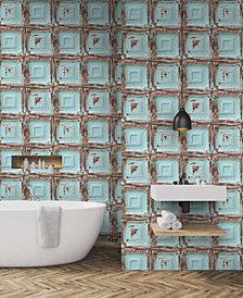 Graham & Brown Mykonos Panel Blue Wallpaper